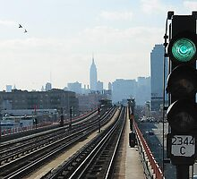 7 Train at 47th St. / Queens Boulevard by John Michael Sudol