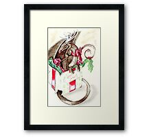 the little red nose dragon Framed Print