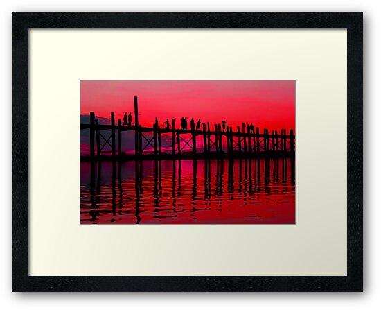 MANDALAY SUNSET 2 by Michael Sheridan
