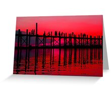 MANDALAY SUNSET 2 Greeting Card