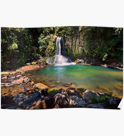 Waiau Falls Bright Water Poster
