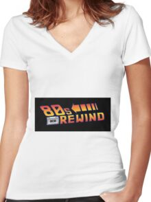 Back to the 80's Women's Fitted V-Neck T-Shirt