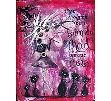 MAD ABOUT CATS Super Cool Cat Lady Art by Loralai Photographic Print