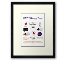 Once Upon a Time Quotes Framed Print