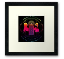 CONSULTING DETECTIVE & TIME TRAVEL INVESTIGATOR RAINBOW VERSION Framed Print