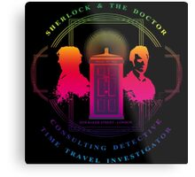 CONSULTING DETECTIVE & TIME TRAVEL INVESTIGATOR RAINBOW VERSION Metal Print