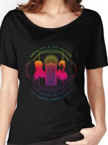 CONSULTING DETECTIVE & TIME TRAVEL INVESTIGATOR RAINBOW VERSION Women's Relaxed Fit T-Shirt