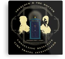 CONSULTING DETECTIVE & TIME TRAVEL INVESTIGATOR   Metal Print