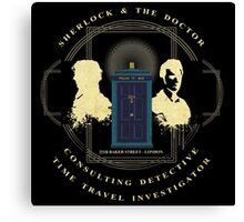 CONSULTING DETECTIVE & TIME TRAVEL INVESTIGATOR   Canvas Print