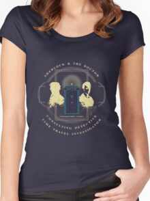 CONSULTING DETECTIVE & TIME TRAVEL INVESTIGATOR   Women's Fitted Scoop T-Shirt