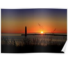 Frankfort North Breakwater Lighthouse Poster