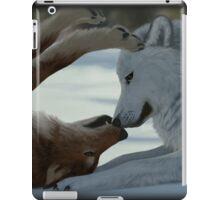 Sweet wolf couple iPad Case/Skin