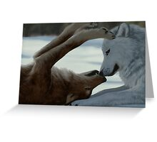 Sweet wolf couple Greeting Card