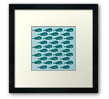 Whale Pod Framed Print