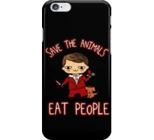 SAVE THE ANIMALS, EAT PEOPLE (3) - hannibal doodle iPhone Case/Skin