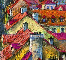 Prague roofs 2 by Yuriy Shevchuk