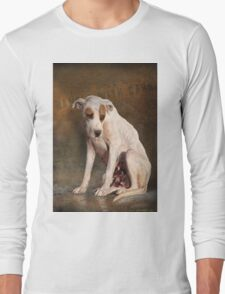 handle with care,  street dog portrait Long Sleeve T-Shirt