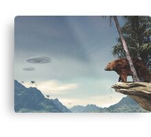 Do Aliens Get Grizzly? Metal Print