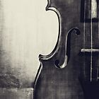Fiddle Portrait in Black and White by Kadwell