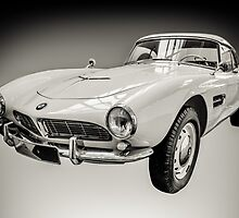 Vintage White BMW 507 by mrdoomits