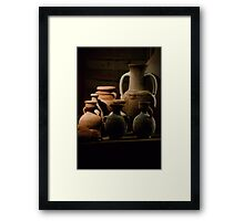Pots of clay Framed Print