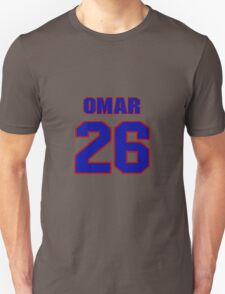 National football player Omar Stoutmire jersey 26 T-Shirt