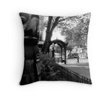 time in perspective Throw Pillow