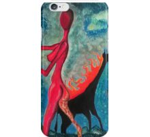 The Burning Giraffe Interpretation  iPhone Case/Skin
