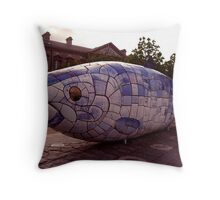 there is something fishy going on here ... Throw Pillow