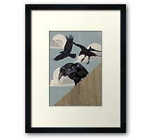 Crow invasion Framed Print