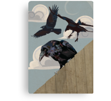 Crow invasion Canvas Print