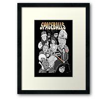 spaceballs character collage Framed Print
