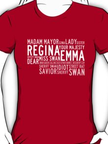 Swan Queen Nicknames (red) T-Shirt