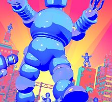 INVASION OF THE GIANT ROBOTS! by boblea