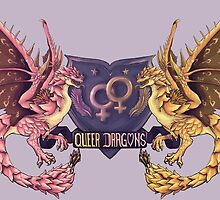 ~~Heraldic Queer Lady Dragons~~ by shinysylver