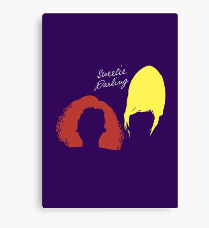 """The AbFab // """"Sweetie Darling"""" Canvas Print"""