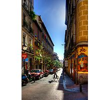 Old Streets of Madrid Photographic Print