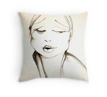 """Who?"" Throw Pillow"