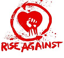 Rise Against in Red by cheezrulz84