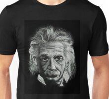 Classic Portrait of Albert Einstein, White Chalk Unisex T-Shirt