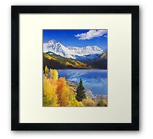 trout lake near telluride colorado Framed Print