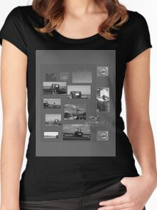 B&W Commissioning USS North Carolina  (SSN-777) Women's Fitted Scoop T-Shirt