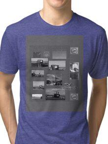 B&W Commissioning USS North Carolina  (SSN-777) Tri-blend T-Shirt