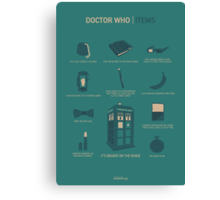 Doctor Who | Items Canvas Print