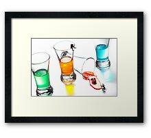 The Accident Of Diving Framed Print