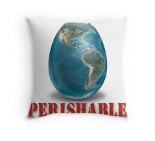 Earth-Perishable Throw Pillow