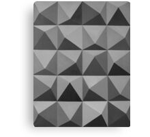 Abstract patterns grey and black Canvas Print