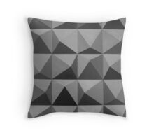 Abstract patterns grey and black Throw Pillow