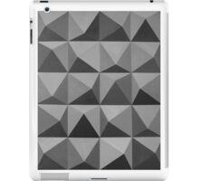 Abstract patterns grey and black iPad Case/Skin