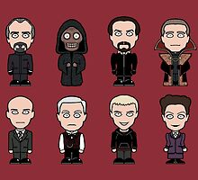 The Eight Masters (card/print) by redscharlach